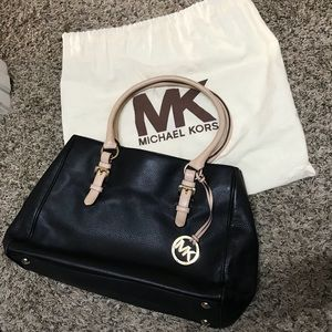 TRADED - Michael Kors Saffiano Large Tote in Black